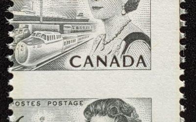 Canada #460 Never Hinged 1970 6c Centennial Misperf, ex Penko