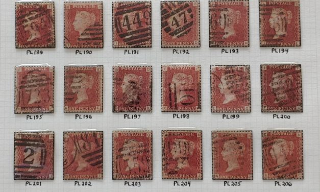 G.B. #33 Used 1858/64 1d Red Plates 183/218 on page (36)