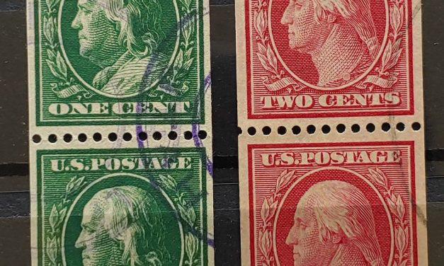 U.S.A. #348-9 VF Used 1908/10 Coil Pair duo (4)