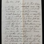 Camp on Bird Tail River 1 Oct 1880 Marcus Smith Letter to his wife