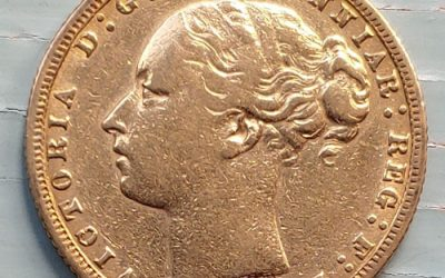 Australia F/VF 1874S Queen Victoria Gold Sovereign