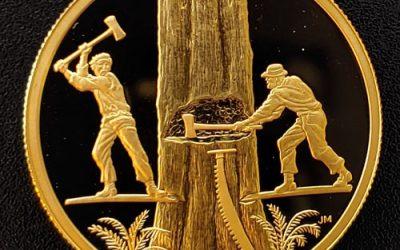 Canada Proof 2006 Lumbering $200 Gold #0314/3218 .471oz AGW