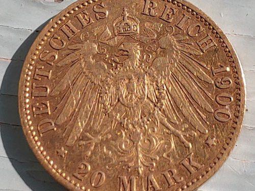 Prussia XF 1900A Wilhelm II Gold 20 Mark .2305 oz AGW