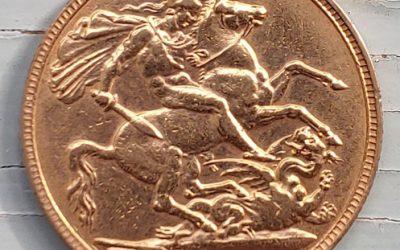 G.B. XF 1903 Edward VII Gold Sovereign, trifle rim nick .2354 oz AGW