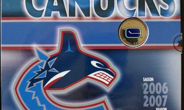 Vancouver Canucks BU 2007 7-coin Set w/ logo 25 Cents