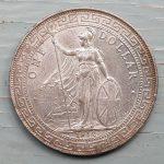 G.B./Hong Kong Unc 1912B 27gm Silver Trade Dollar .775 oz ASW