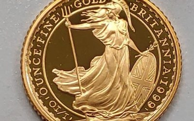 G.B. Proof 1999 1/10oz pure Gold 10 Pounds, only 1078 issued