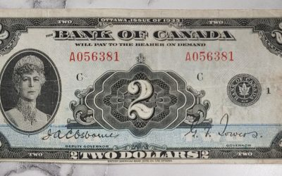 Bank of Cda #BC-3 Fine+ 1935 Queen Mary $2 Bill