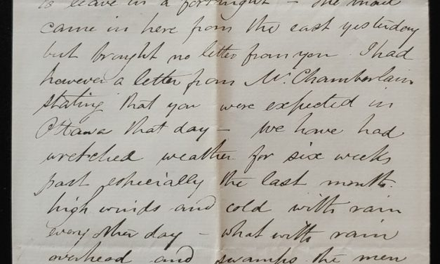 Shoal Lake, N.W.T. 27 Sep 1880 Marcus Smith 2 pg letter to his wife