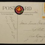 Canada #105LW 22 Dec 1925 1c Lathework Postcard, ex Goodhelpsen