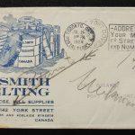 Canada #105LW 16 Jl 1924 1c Lathework Ad Cover, ex Goodhelpsen