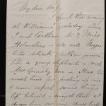 Toronto 23 May 1881 Marcus Smith 2-pg Letter to his wife