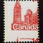 Canada #716 Never Hinged 1978 14c Parliament Misperf, ex Penko