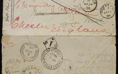 New Westminster, B.C. 21 Mar 1896 3c Dead Letter, open 3 sides