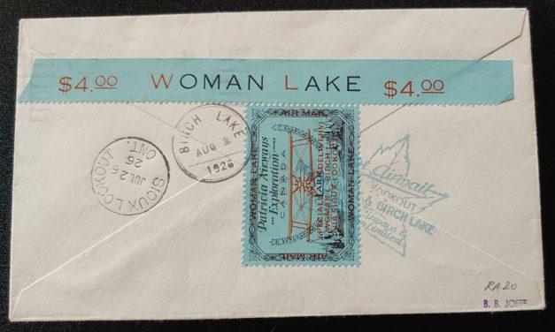 Canada #CL18 July 24/6 Aug 1926 52c Patricia Airways Flight Cvr