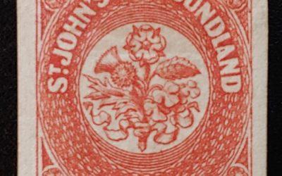 Newfoundland #8 VF Mint HR 1857 8d Vermilion