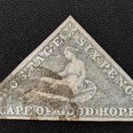 Cape of Good Hope #5c VF Used 1858 6d Slate Purple