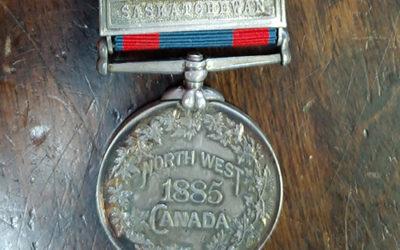 North West Canada 1885 Silver Riel Rebellion Medal with Saskatchewan Bar