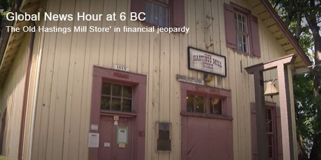 Global News BC > The Old Hastings Mill Store' in financial jeopardy