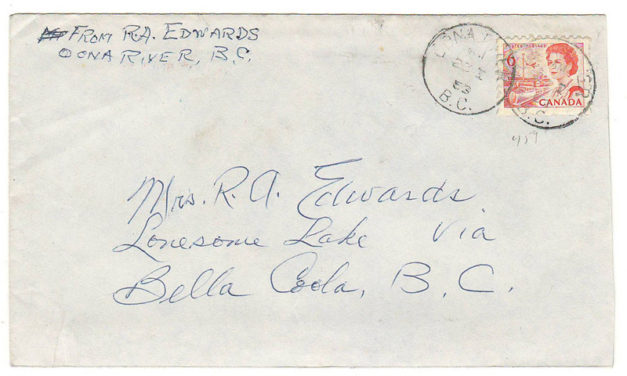 Ralph Edwards Jan 1969 instructional letter to his wife at Lonesome Lake