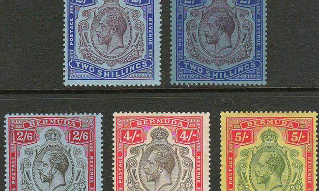 Bermuda #49-52, 94 1910/1927 George V (5)
