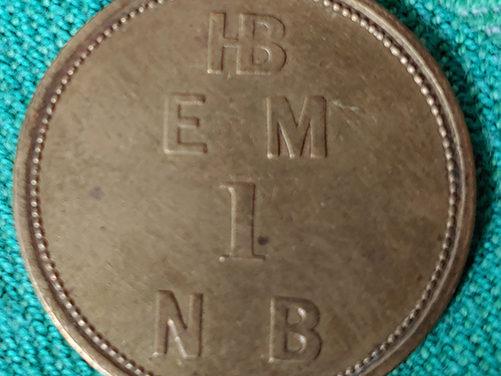 H.B.C. EFT1 1857 1 Made Beaver Eastmain Token