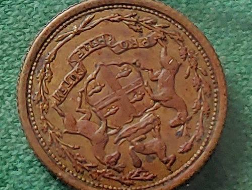 H.B.C. 1857 1/8 Made Beaver Eastmain Token