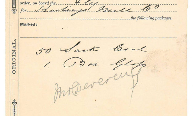 Hastings Mill Co. 14 Oct 1872 Steamer Fly Waybill