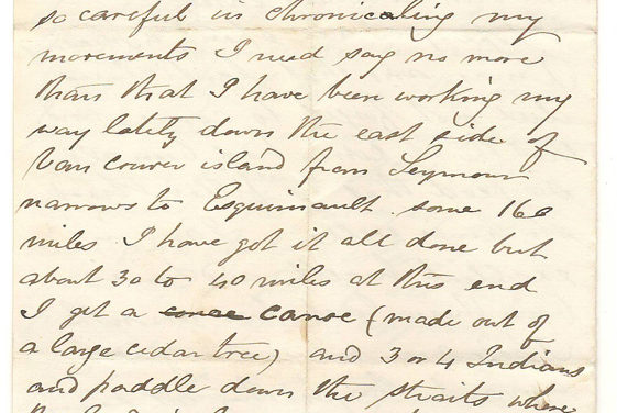 Victoria, B.C. 26 Dec 1872 4-page Marcus Smith Letter to his wife