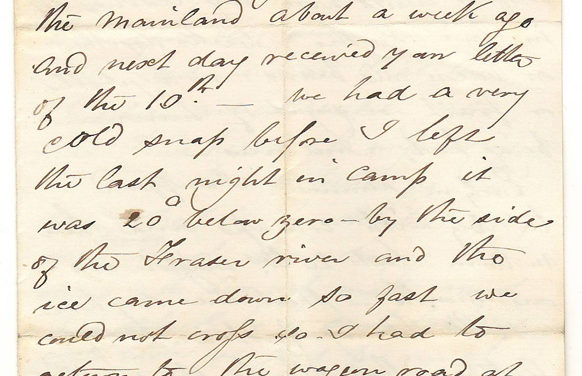 Victoria 5 Dec 1872 2-page 4-sided Marcus Smith Letter to his wife
