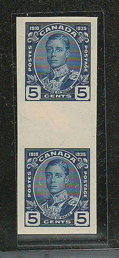 Proof Pair of stamps, wide gutter