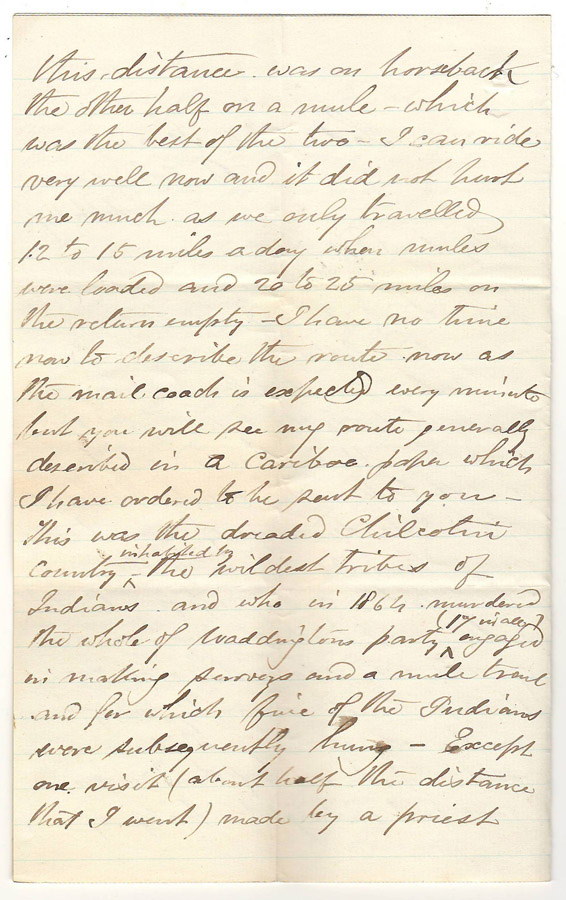 Page 2 of letter to Annie